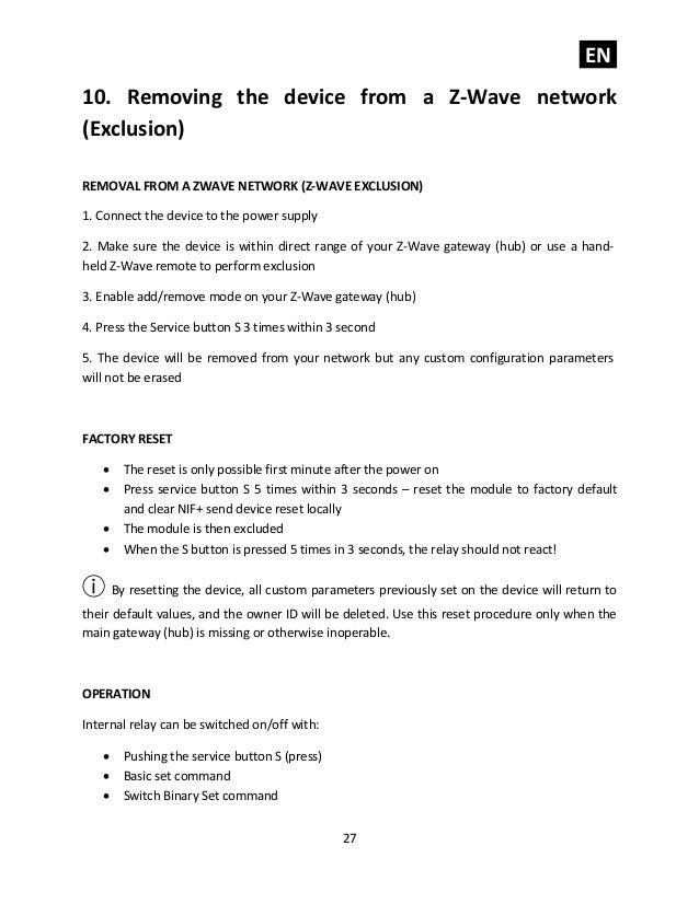 Qubino smart plug 16 A Z-Wave Plus manual