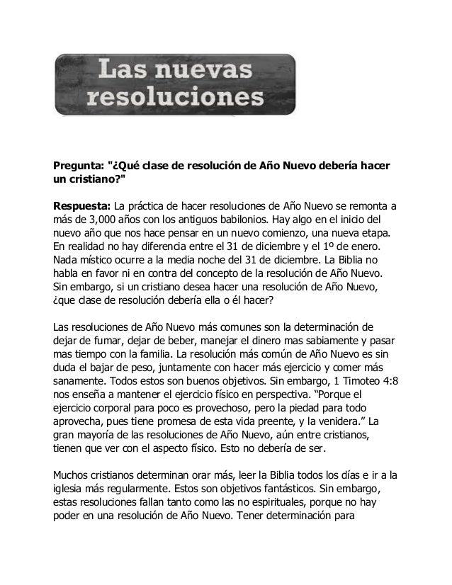 """Pregunta: """"¿Qué clase de resolución de Año Nuevo debería hacer un cristiano?"""" Respuesta: La práctica de hacer resoluciones..."""