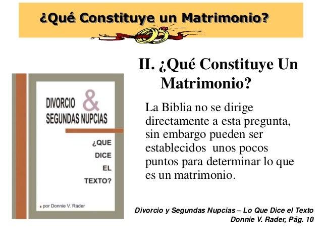 Matrimonio Divorcio Biblia : Qué constituye un matrimonio