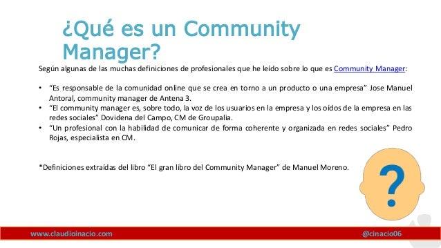 Que es un Community Manager Slide 2