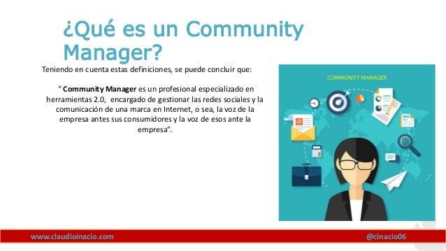 Que es un Community Manager Slide 3