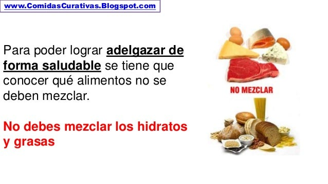 Que alimentos no se deben mezclar para adelgazar - Alimentos dieteticos para adelgazar ...