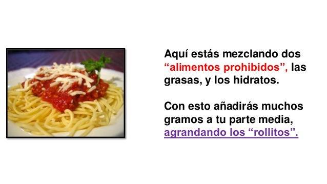 Que alimentos no se deben mezclar para bajar de peso!?