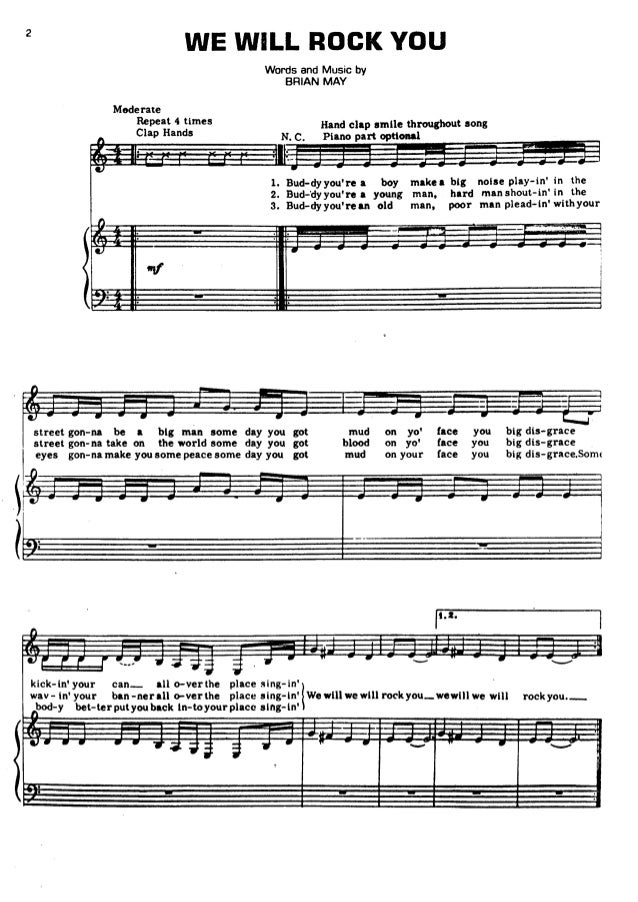 All Music Chords free french horn sheet music : Queen sheet music hits song book