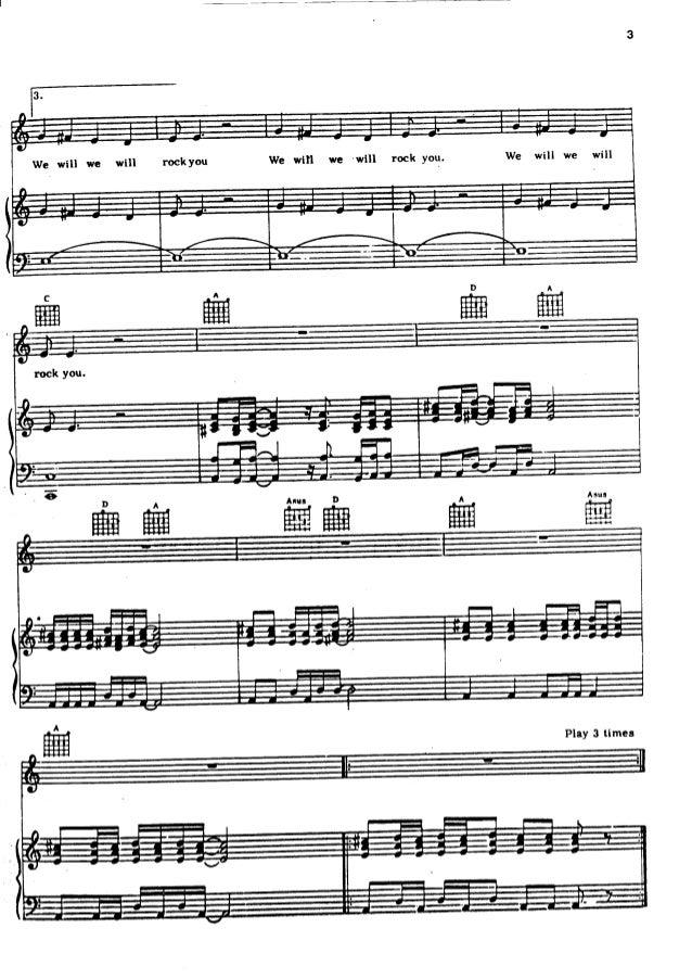 Queen   sheet music hits song book Slide 2
