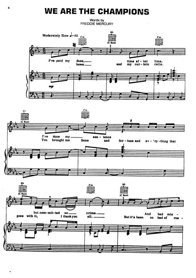 Queen   sheet music hits song book Slide 3