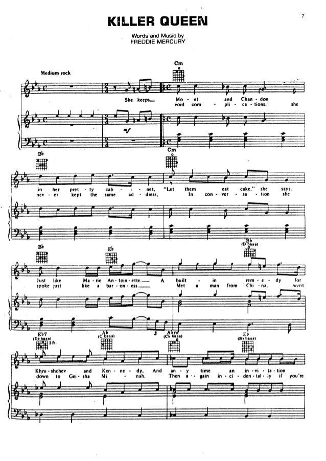 Queen sheet music hits song book (pvg76)