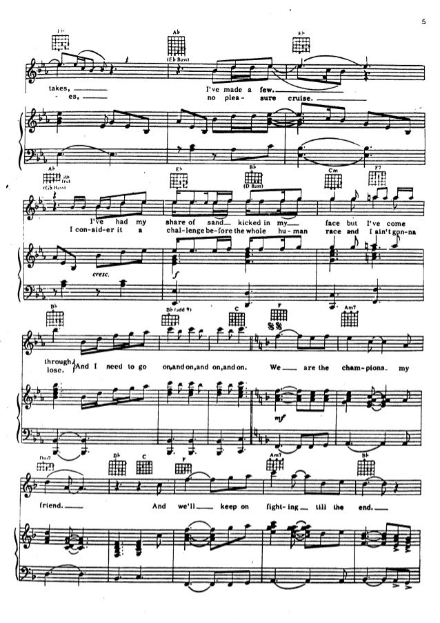 Queen   songbook 1 partituras Slide 2