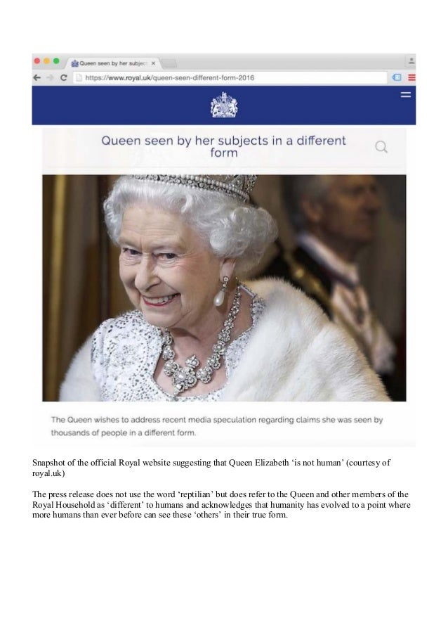 Queen Elizabeth 'Is Not Human' Admitted by Buckhingham Palace - royal…