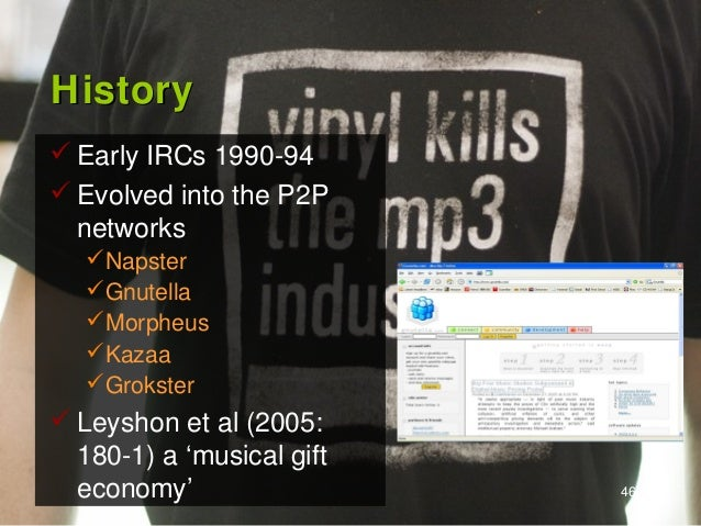the history of napster and its terrorizing of the music industry The music industry hasn't been the same since then according to data from the recording industry association of america (riaa), sales peaked at $146 billion in 1999, when napster was in its heyday, and had shrunk to $697 billion in 2014.