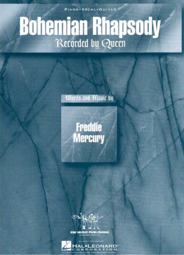 Queen (freddie mercury)   bohemian rhapsody (full scores)