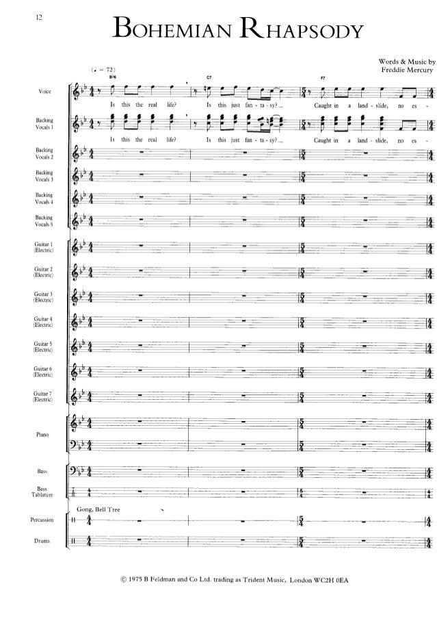 Queen (freddie mercury)   bohemian rhapsody (full scores) Slide 3