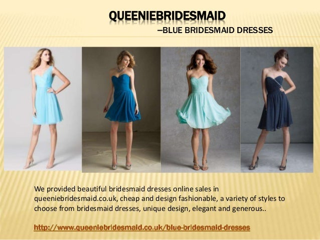 QUEENIEBRIDESMAID --BLUE BRIDESMAID DRESSES We provided beautiful bridesmaid dresses online sales in queeniebridesmaid.co....