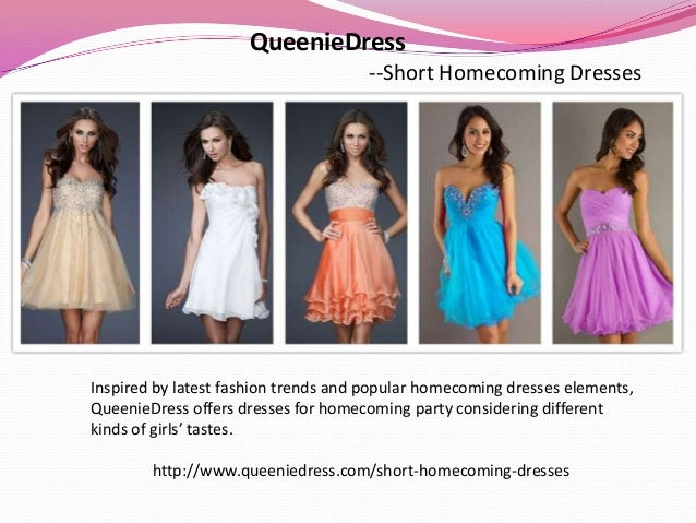 QueenieDress --Short Homecoming Dresses Inspired by latest fashion trends and popular homecoming dresses elements, Queenie...