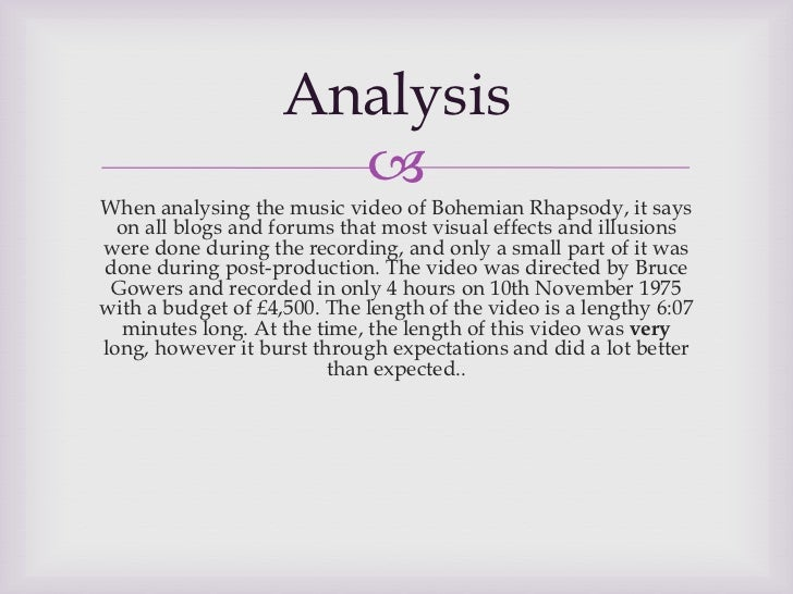 A poetical analysis of queens bohemian rhapsody Coursework
