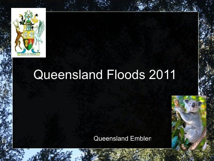 Queensland Floods 2011 Queensland Emblems
