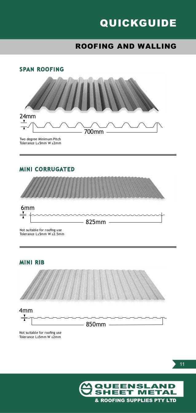 Queensland Sheet Metal Amp Roofing Supplies Product Guide