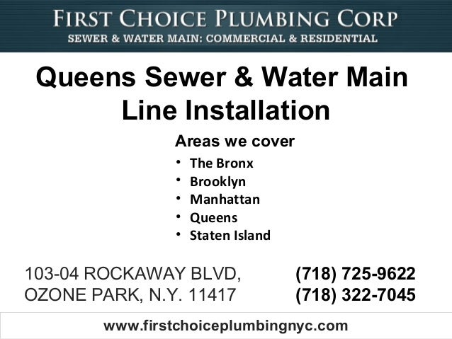Queens Sewer & Water Main      Line Installation                Areas we cover                •   The Bronx               ...