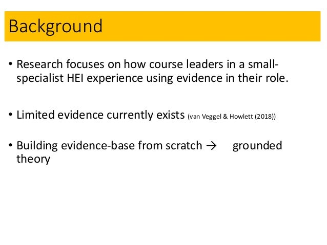 Enhancing the quality of a GT project through interviewing the self - a methodological development Slide 2