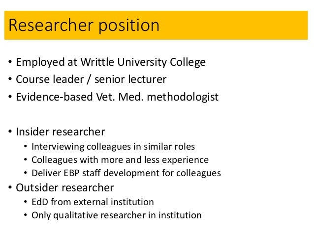 Enhancing the quality of a GT project through interviewing the self - a methodological development Slide 3
