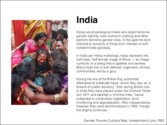 """India """" ! Hijras are physiological males who adopt feminine gender identity, wear women's clothing and other perform femin..."""