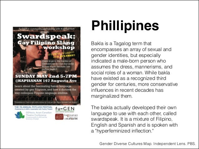 """Phillipines """" ! Bakla is a Tagalog term that encompasses an array of sexual and gender identities, but especially indicate..."""