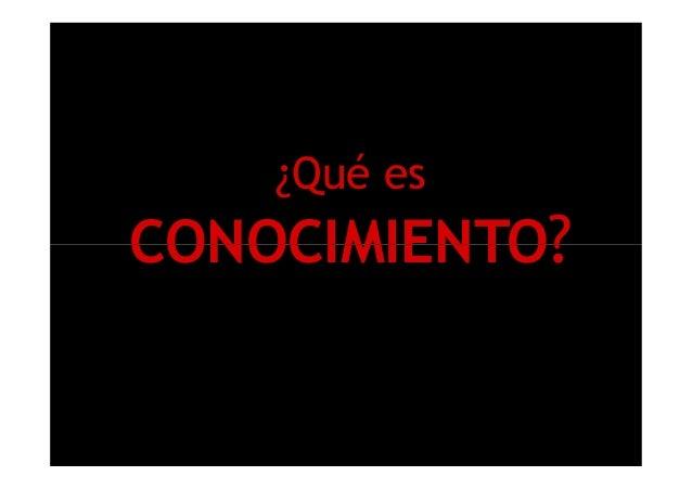 ¿Qué es CONOCIMIENTO?CONOCIMIENTO?