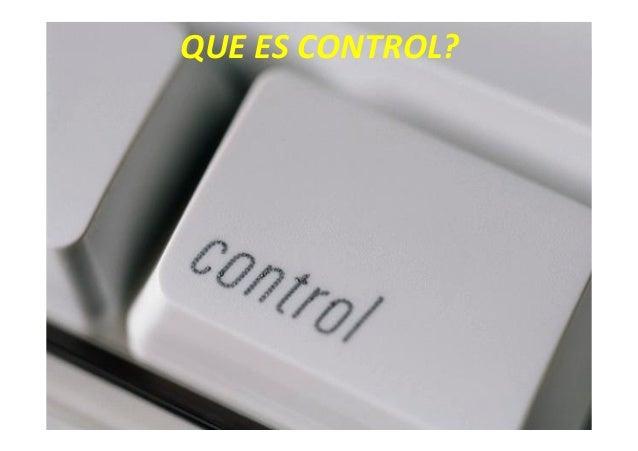 Qué es control Slide 3