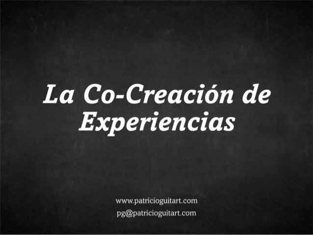 Co-Creación de Experiencias
