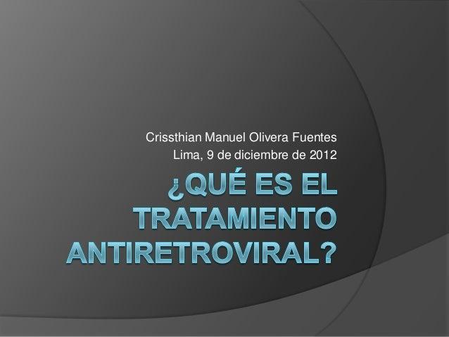 Crissthian Manuel Olivera Fuentes Lima, 9 de diciembre de 2012
