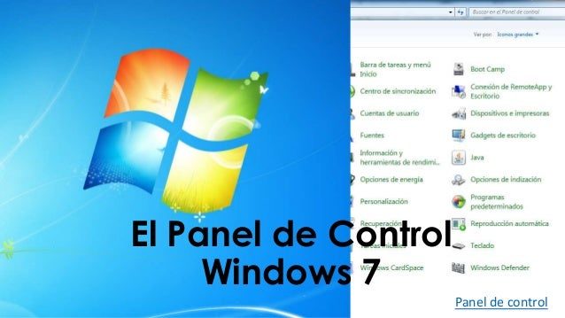 how to use control panel in windows 7
