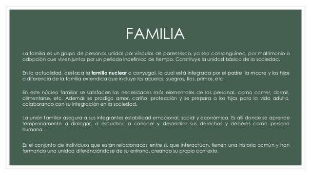 Que Es Familia