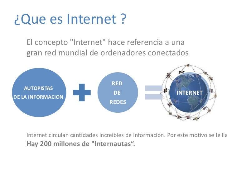 """redes.jpg ¿Que es Internet ?  El concepto """"Internet"""" hace referencia a una gran red mundial de ordenadores conec..."""