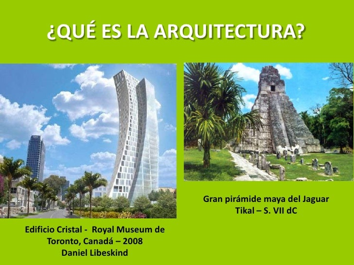que es la arquitectura