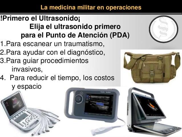 !Primero el Ultrasonido¡ Elija el ultrasonido primero para el Punto de Atención (PDA) 1.Para escanear un traumatismo, 2.Pa...