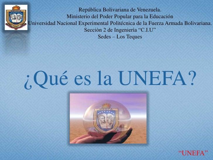 República Bolivariana de Venezuela.<br />Ministerio del Poder Popular para la Educación<br />Universidad Nacional Experime...