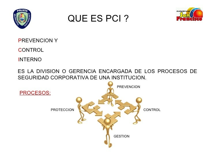 QUE ES PCI ? P REVENCION Y C ONTROL  I NTERNO ES LA DIVISION O GERENCIA ENCARGADA DE LOS PROCESOS DE SEGURIDAD CORPORATIVA...