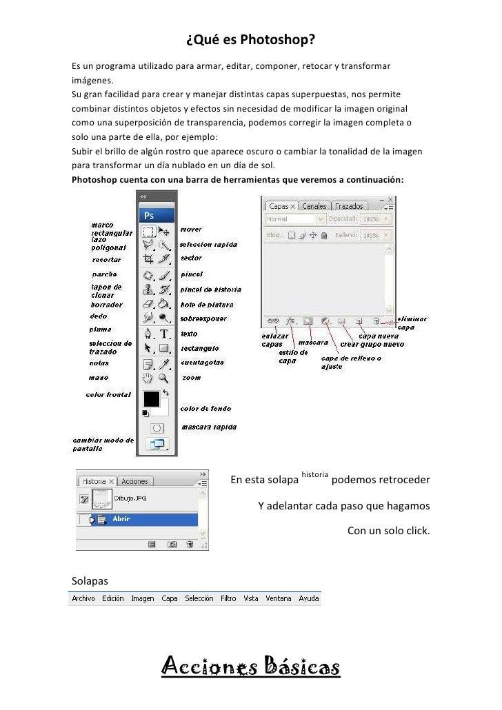 ¿Qué es Photoshop?Es un programa utilizado para armar, editar, componer, retocar y transformarimágenes.Su gran facilidad p...