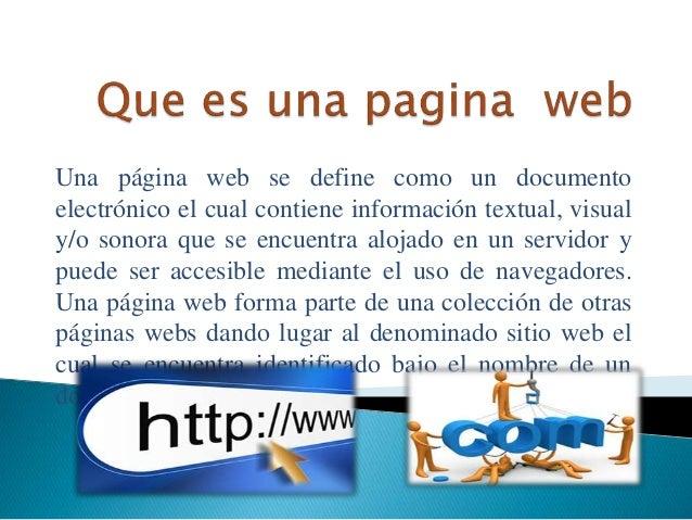 Características de una página web