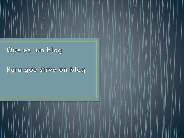 caracteristicas de un blog y redes sociales