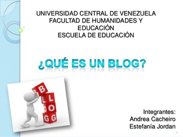 UNIVERSIDAD CENTRAL DE VENEZUELA    FACULTAD DE HUMANIDADES Y           EDUCACIÓN      ESCUELA DE EDUCACIÓN               ...
