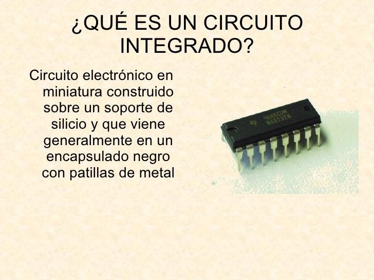 Circuito Que Es : Que es un circuito integrado
