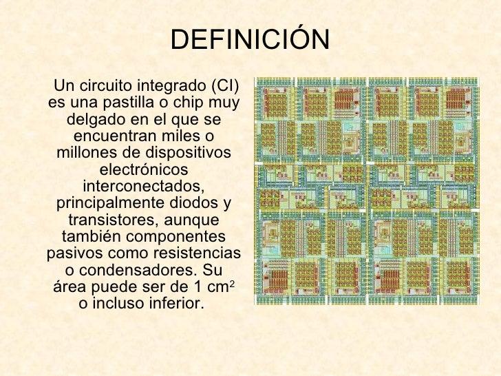 Que es un circuito integrado