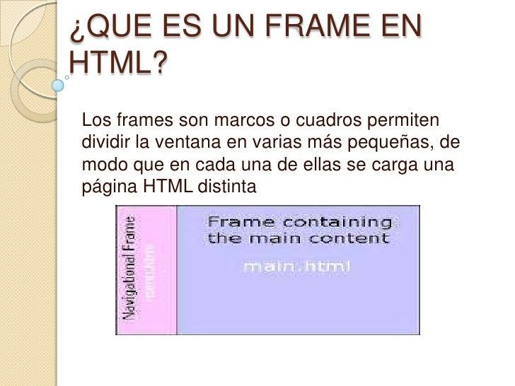 Que es un frame en html for Que es un vivero frutal