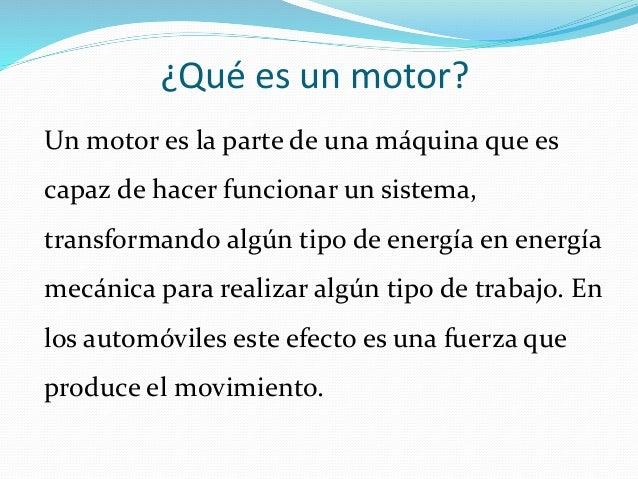 Que Es Un Motor