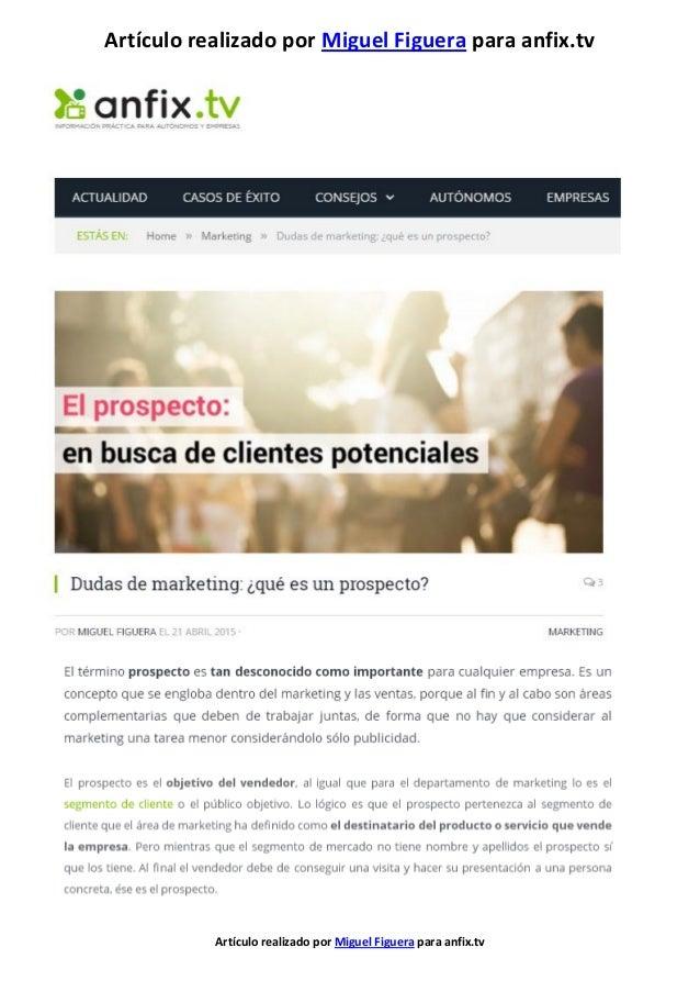 Artículo realizado por Miguel Figuera para anfix.tv Artículo realizado por Miguel Figuera para anfix.tv