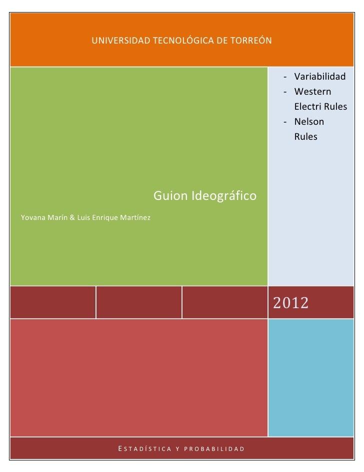 UNIVERSIDAD TECNOLÓGICA DE TORREÓN                                                            - Variabilidad              ...