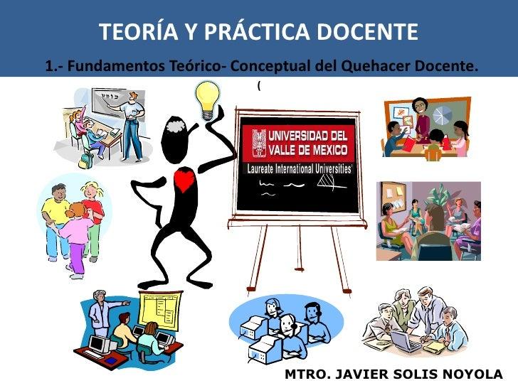TEORÍA Y PRÁCTICA DOCENTE1.- Fundamentos Teórico- Conceptual del Quehacer Docente.                           (            ...