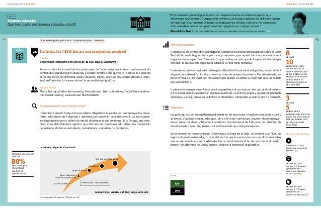 Fundació Jaume Bofill * Què hem après 22 E i x 1 Sistema educatiu Què hem après del sistema educatiu català? Què hem après...