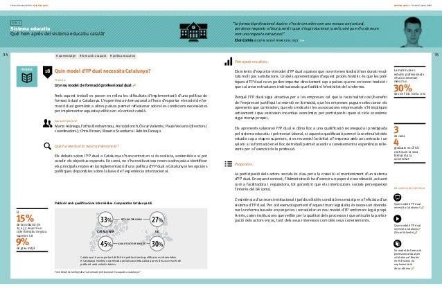 Fundació Jaume Bofill * Què hem après 34 E i x 1 Sistema educatiu Què hem après del sistema educatiu català? Què hem après...